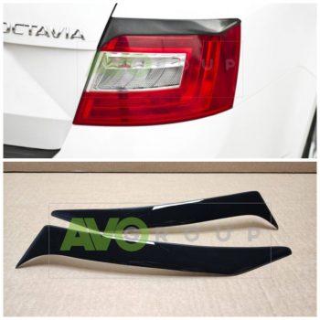 Backlight Eyelids for Skoda Octavia 3 13-17 ABS Gloss