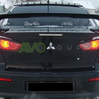Mitsubishi Lancer X Rear Eyebrows 2007-2016