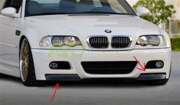 BMW 3 E46 Fangs for M3 Bumper