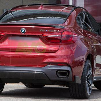 Rear bumper diffuser for BMW X6 F16 14-18