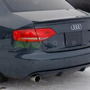 Rear Bumper Diffuser for Audi A4 B8 Sedan Avant 08-11 RS4