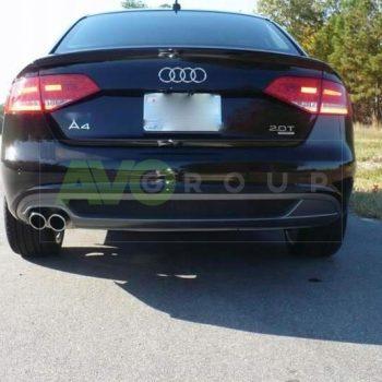 Rear Bumper Diffuser for Audi A4 B8 Sedan Avant 08-11 S-line