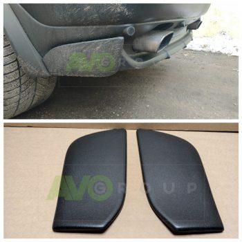 Flaps fangs caps for rear bumper spoiler BMW X5 E53 4.6 4.8 is 99-06 Matt