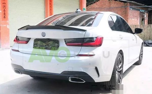 Trunk boot spoiler for BMW 3 G20 19-24 M4 Style