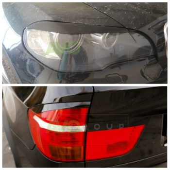Front and Rear Eyelids kit for BMW X5 E70 07-13 ABS Gloss