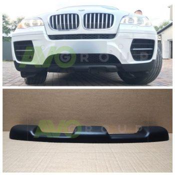 Front bumper Spoiler Splitters for BMW X6 E71 E72 07-14 ABS Matt
